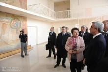 ՀՀ Նախագահը Մայիսյան համայնքի նորակառույց մշակույթի տան այցելուն էր