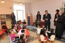 Սերժ Սարգսյանը ծանոթացավ Ամասիայի մանկապարտեզի հիմնանորոգման աշխատանքներին