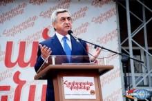 Հանրապետականը կերտում է նոր Հայաստան. Սերժ Սարգսյան