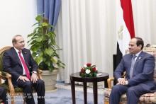 Հայաստանի վարչապետը և Եգիպտոսի նախագահը քննարկել են երկու երկրների հարաբերությունների զարգացմանն ուղղված մի շարք հարցեր