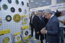 PRESIDENT SERZH SARGSYAN ATTENDS OPENING OF ARMENIA EXPO 2015