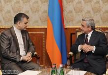 Սերժ Սարգսյանը հրաժեշտի հանդիպում է ունեցել Հայաստանում Իրանի դեսպանի հետ