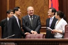 Սամվել Նիկոյանն ընդունեց Կորեայի Հանրապետության ԱԺ փոխնախագահ Հոն Ջաե Հյոնի գլխավորած պատվիրակությանը