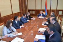 PRESIDENT HELD CONSULTATIONS ON THE ARMENIAN-ARGENTINEAN COOPERATION AGENDA