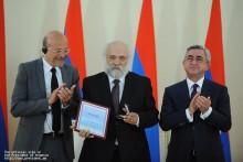 Տեղի է ունեցել Հանրապետության նախագահի 2011 թվականի մրցանակների հանձնման արարողությունը
