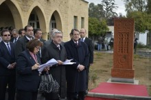 PRESIDENT SERZH SARGSYAN IN NICOSIA ATTENDED THE CEREMONY OF UNVEILING THE CROSS-STONE WHICH SYMBOLIZES THE ARMENIAN-CYPRIOT FRIENDSHIP