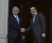 IN ATHENS, PRESIDENT SERZH SARGSYAN MET WITH THE PRIME MINISTER OF GREECE ALEXIS TSIPRAS