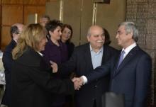 PRESIDENT SERZH SARGSYAN MET WITH THE PRESIDENT OF THE GREEK PARLIAMENT NIKOS VOUTSIS