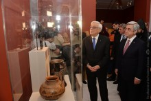 PRESIDENT SERZH SARGSYAN TODAY IN ATHENS WAS PRESENT AT THE OPENING OF ARMENIA: THE SPIRIT OF ARARAT EXHIBITION