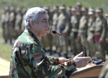 IN ARTSAKH, PRESIDENT SERZH SARGSYAN HANDED HIGH STATE AWARDS TO THE SOLDIERS OF FATHERLAND