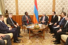 PRESIDENT RECEIVED DIRECTOR GENERAL OF THE UNIVERSAL POSTAL UNION