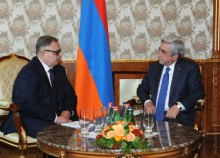 PRESIDENT RECEIVED THE NEWLY APPOINTED HEAD OF THE OSCE OFFICE IN YEREVAN ARGO AVAKOV