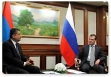 Հայաստանի եւ Ռուսաստանի վարչապետները քննարկել են երկու երկրների տնտեսական համագործակցությունը
