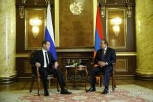 Hovik Abrahamyan, Dmitry Medvedev discuss Armenian-Russian cooperation-related agenda