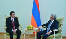 NEW APPOINTED AMBASSADOR OF TAJIKISTAN PRESENTED HIS CREDENTIALS TO THE PRESIDENT