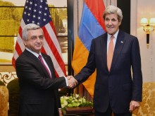 PRESIDENT SERZH SARGSYAN AND US SECRETARY OF STATE JOHN KERRY MET IN VIENNA