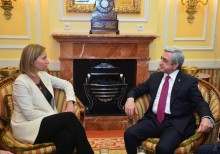 PRESIDENT SARGSYAN IN VIENNA MET WITH THE EU HIGH REPRESENTATIVE, VICE-PRESIDENT OF THE EUROPEAN COMMISSION FEDERICA MOGHERINI