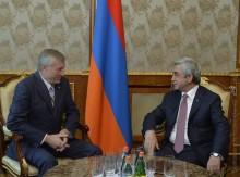 PRESIDENT SARGSYAN RECEIVED THE SECRETARY GENERAL OF THE CSTO NIKOLAY BORDYUZHA