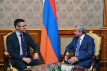 PRESIDENT RECEIVED THE SPECIAL REPRESENTATIVE OF THE OSCE PARLIAMENTARY ASSEMBLY ON THE SOUTH CAUCASUS KRISTIAN VIGENIN
