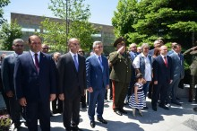 PRESIDENT SERZH SARGSYAN WAS PRESENT AT THE CEREMONY OF UNVEILING OF THE MEMORIAL DEDICATED TO MARSHAL HAMAZASP BABAJANIAN