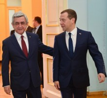PRESIDENT SERZH SARGSYAN RECEIVED THE CHAIRMAN OF THE GOVERNMENT OF THE RUSSIAN FEDERATION DMITRY MEDVEDEV
