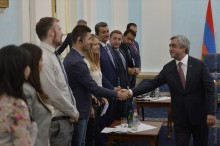 PRESIDENT SERZH SARGSYAN HOSTED THE MEMBERS OF THE COUNCIL OF THE EUROPEAN YOUTH FORUM