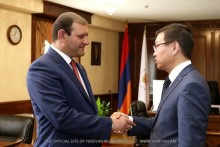 Mayor Taron Margaryan met with the newly-appointed Ambassador Extraordinary and Plenipotentiary of Kazakhstan to Armenia