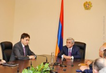 PRESIDENT SERZH SARGSYAN INTRODUCED THE NEWLY APPOINTED SECRETARY OF THE NATIONAL SECURITY COUNCIL