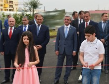 PRESIDENT ATTENDED THE OPENING CEREMONY OF THE MULTI-APARTMENT COMPOUND BUILT IN THE FRAMEWORK OF THE SOCIAL HOUSING PROGRAM