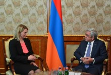 PRESIDENT SERZH SARGSYAN RECEIVED THE US ASSISTANT SECRETARY OF STATE FOR EUROPEAN AND EURASIAN AFFAIRS BRIDGET BRINK
