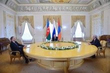 IN SAINT PETERSBURG PRESIDENTS OF ARMENIA, RUSSIA AND AZERBAIJAN MADE A JOINT STATEMENT