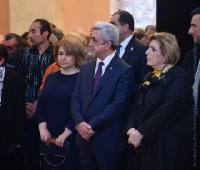 PRESIDENT SERZH SARGSYAN PAID LAST TRIBUTE TO THE RA PEOPLE'S ARTIST OPHELIA HAMBARDZUMIAN