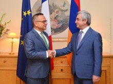 ON THE OCCASION OF NATIONAL HOLIDAY OF FRANCE PRESIDENT VISITED THE FRENCH EMBASSY IN YEREVAN