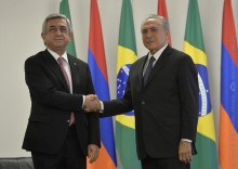 PRESIDENT MET WITH THE ACTING PRESIDENT OF BRAZIL MICHEL TEMER