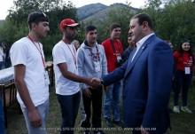 Мэр Тарон Маргарян присутствовал на заключительном мероприятии первого молодежно-студенческого сбора «Сила единства»