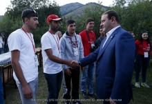 "Mayor Taron Margaryan was present at the final event of the first youth and students gathering ""Force of unity"""