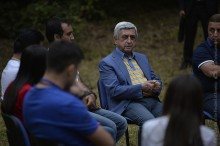 PRESIDENT WAS HOSTED AT THE SUMMER CAMPS IN GEGHARKUNIK AND KOTAYK MARZES