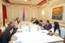 Galust Sahakyan Receives Belgian Parliamentarians