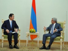 PRESIDENT SERZH SARGSYAN RECEIVED THE PRESIDENT OF THE JAPAN-ARMENIA PARLIAMENTARY FRIENDSHIP LEAGUE SEISHIRO ETO