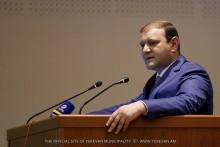 Мэр Тарон Маргарян присутствовал на открытии форума, посвященного 55-летию со дня основания «Научно-исследовательского института кардиологи»