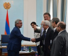 PRESIDENT RECEIVES PAN-ARMENIAN SCIENTIFIC CONFERENCE PARTICIPANTS