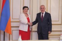 Galust Sahakyan Receives Deputy Speaker of Knesset