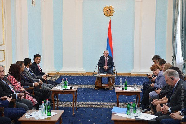 PRESIDENT RECEIVED PARTICIPANTS OF THE EURASIAN PARTNERSHIP