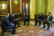 PM Receives Russian Railways OJSC Vice President and South Caucasus Railway CJSC Director General