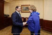 Mayor Taron Margaryan meets with Saint Petersburg Vice-Governor Olga Kazanskaya