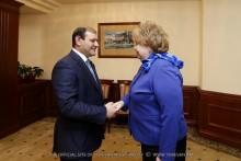 Мэр Тарон Маргарян встретился с вице-губернатором Санкт-Петербурга Ольгой Казанской