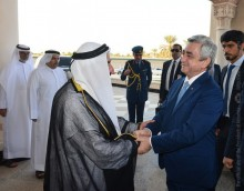 PRESIDENT SERZH SARGSYAN MET WITH THE EMIR OF SHARJAH SHEIKH DOCTOR SULTAN BIN MUHAMMAD AL-QASIMI
