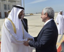 PRESIDENT SERZH SARGSYAN MET WITH THE CROWN PRINCE OF ABU DHABI, SHEIKH MOHAMMED BIN ZAYED BIN SULTAN AL-NAHYAN
