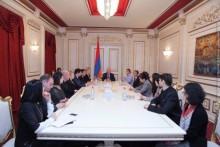Galust Sahakyan Receives Participants of International Forum Being Held in Armenia