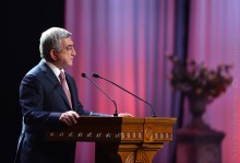 PRESIDENT ATTENDED AN OFFICIAL GATHERING DEDICATED TO THE 20TH ANNIVERSARY OF THE INTRODUCTION IN ARMENIA OF THE SELF-GOVERNANCE SYSTEM